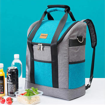 Insulated cooler bag with PEVA lining for travelling