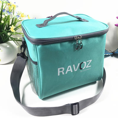 Insulated Lunch Bag with Large Side Pockets and Shoulder Strap
