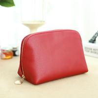 PU leather cosmetic bags customization with metal zipper
