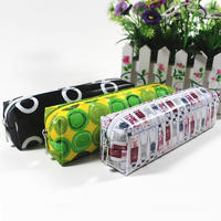 Canvas pencil bag with zipper waterproof stationary bag