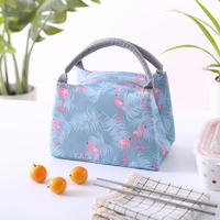 Lunch tote bag with aluminium foil organizer lunch holder