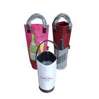 Luxury design red wine cooler bag with handle