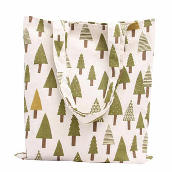 Organic Cotton Deluxe Reusable Grocery Shopping Bag with Bottle Sleeves