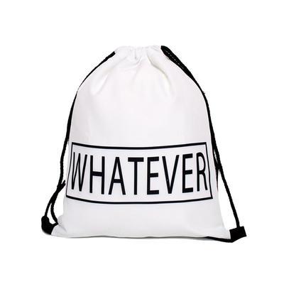Drawstring Bag Sport Backpack Cinch Tote Travel Rucksack for Traveling and Storage