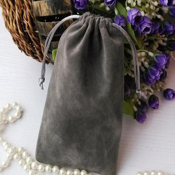 Velvet drawstring pouch for jewellery and gift collection