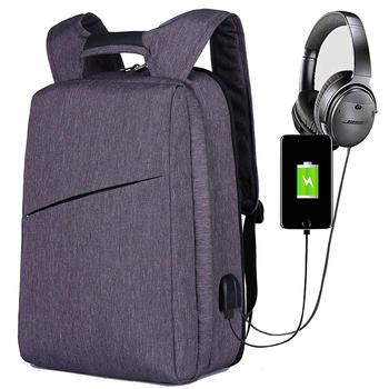 Custom anti thief backpack bag for laptop with usb port