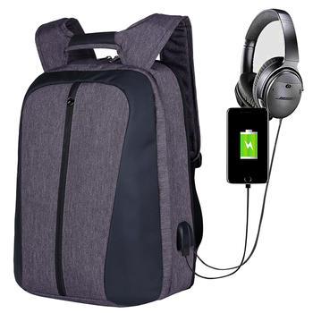 Custom backpack bag for laptop with usb port
