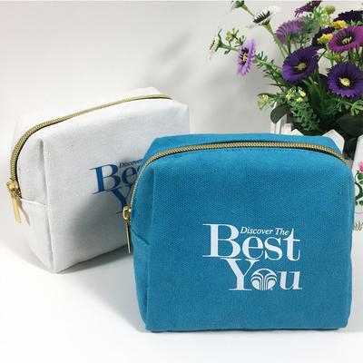 canvas cosmetic bag wholesale gold zipper bag customization