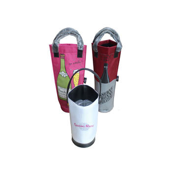 Bottle packaging bag in nylon 420D with handle