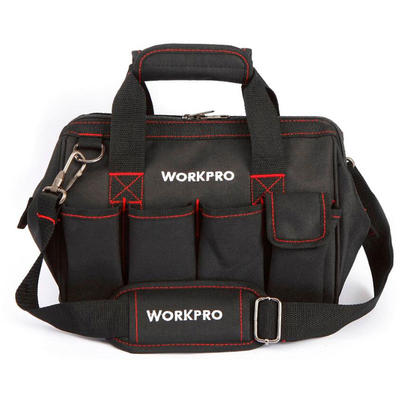 Tool Bag 18-Inch Wide Mouth Tradesman Tool Organizer with Water Proof Molded Base