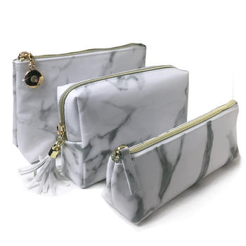 Stone PU cosmetic pouch