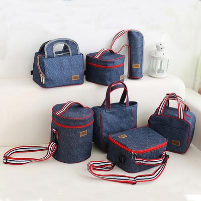 Outdoor handle insulated zipper cooler bags
