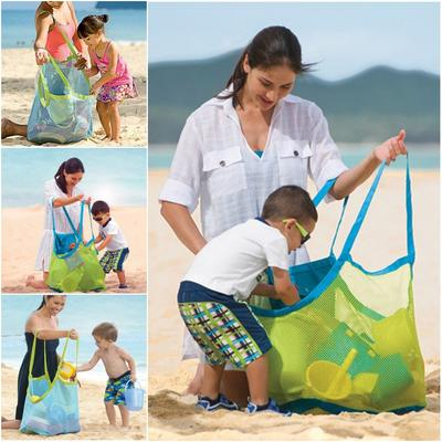Outdoor beach toy mesh handle pouch