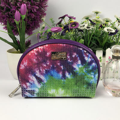 Sequin Cosmetic Bag Mermaid Spiral Reversible Sequins Portable Double Color Students Pencil Case for Girls
