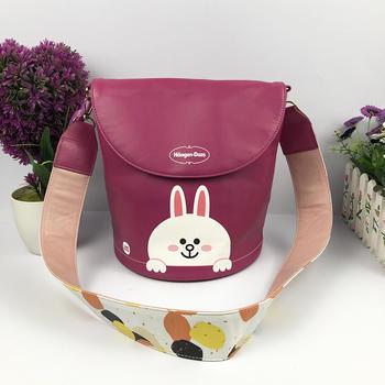 Haagen-Dazs PU print cooler bag with shoulder strap