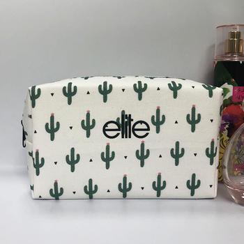 12 OZ Cotton Canvas Makeup Bag Portable Travel Cosmetic Bag for Women Girls