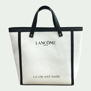 High quality ladys tote bag cotton canvas with PU leather shopping  bag