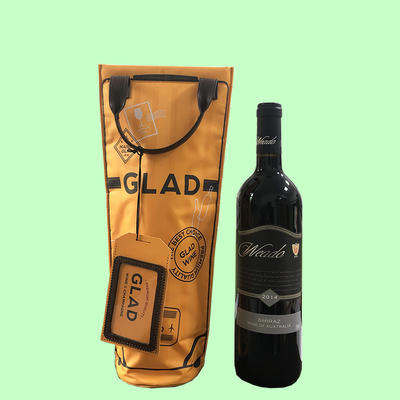 Insulated Wine/Champagne Cooler bag with Portable Handle - Fits All 750 ml Bottles