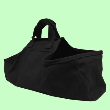 Durable 16oz canvas handle firewood bag with handle
