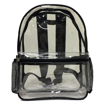 Strict QC&CE ISO Certified bags factory custom plastic clear PVC backpack