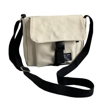 ISO Certified factory custom cotton canvas shoulder messenger bag