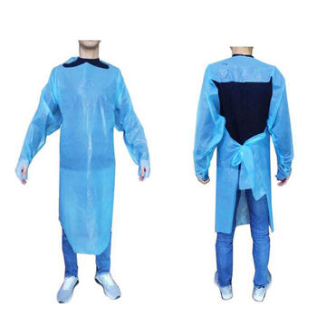 CPE isolution Apron with thumb loop for dust-proof and anti-statics.